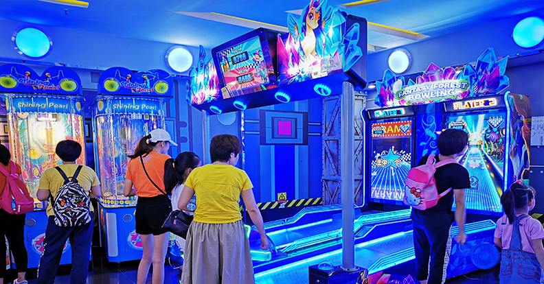 Video game amusement equipment application case